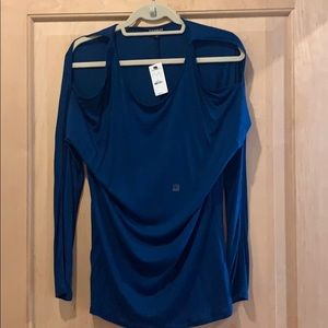 Express size small cold shoulder top